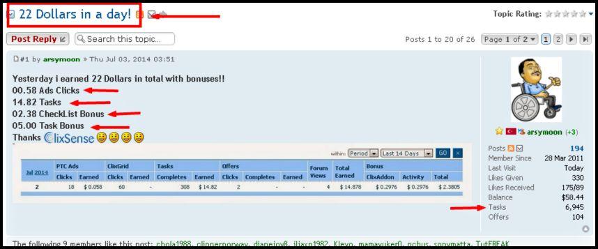 online tasks for money Clixsense success