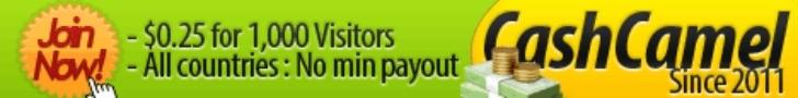 cashcamel best ptc sites banner