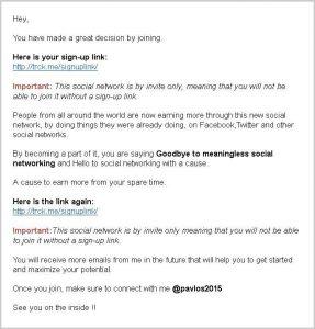 follow up email screenshot