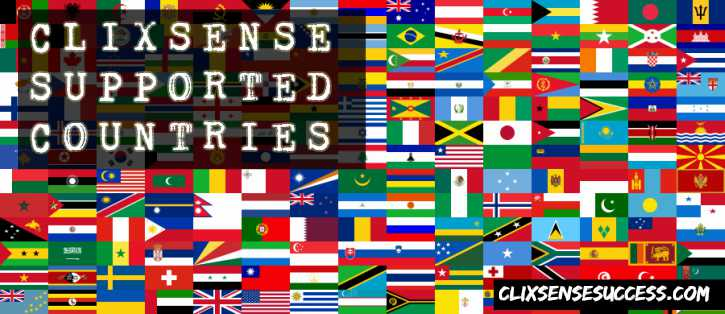 Clixsense supported countries