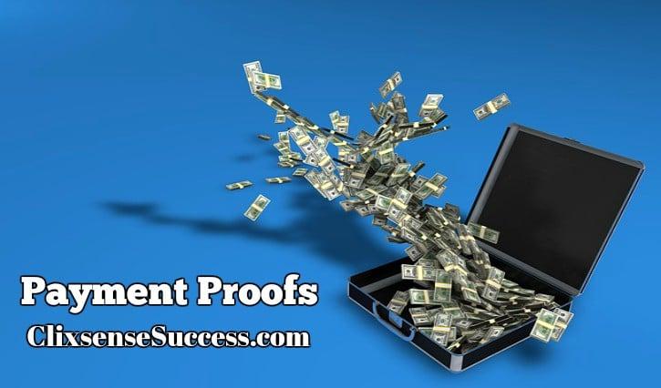 payment proof clixsense success