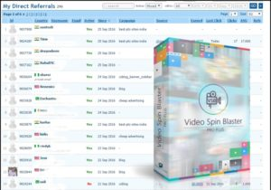Get Direct Referrals with Video Spin Blaster PRO Plus