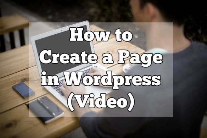 How to Create a Page in WordPress (Video)